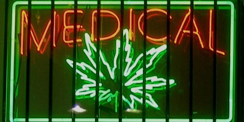 Photo Credit: Medical marijuana neon sign at a dispensary on Ventura Boulevard in the San Fernando Valley—Los Angeles, California by  Laurie Avocado.