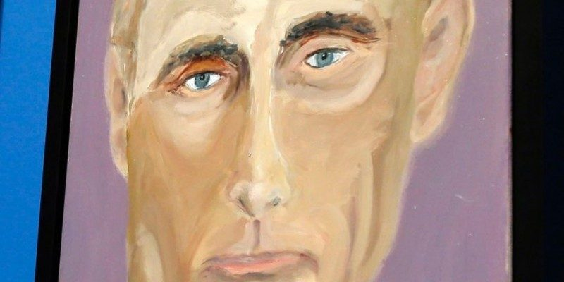 Vladimir Putin painting by Former President George W. Bush via www.abc.net.au