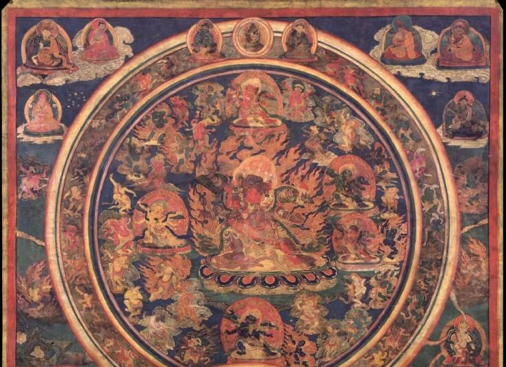 Peaceful and Wrathful Deities of the Bardo by Mhss via Wikimedia Commons