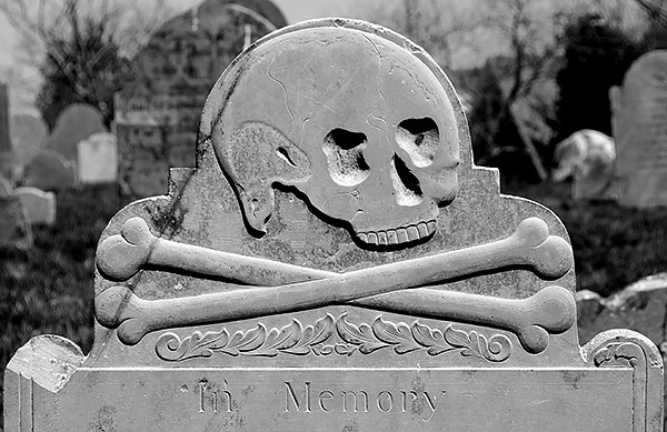 Skull and Crossbones Gravestone via by Conjure-Photography