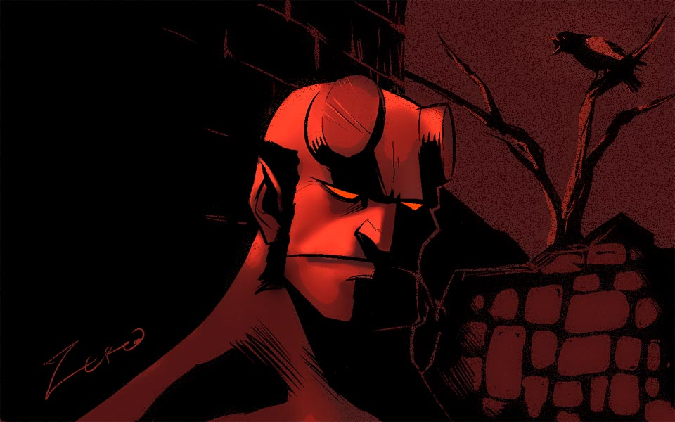 Hellboy warmup by MarcelZero via DeviantArt