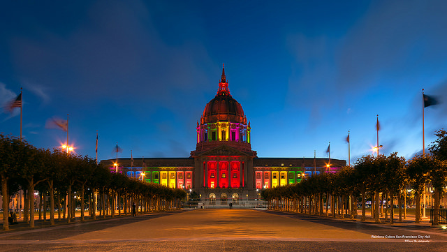 Rainbow Colors San Francisco City Hall