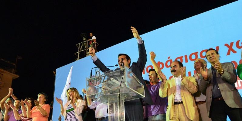 SYRIZA rally