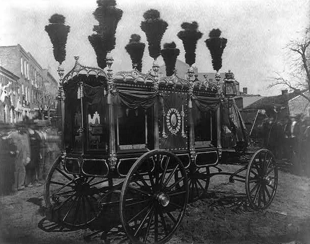 """President Abraham Lincoln's hearse, Springfield"""
