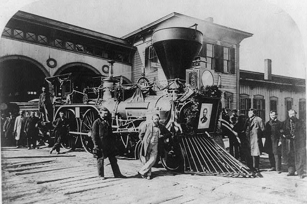 """Engine ""Nashville"" of the Lincoln funeral train"""