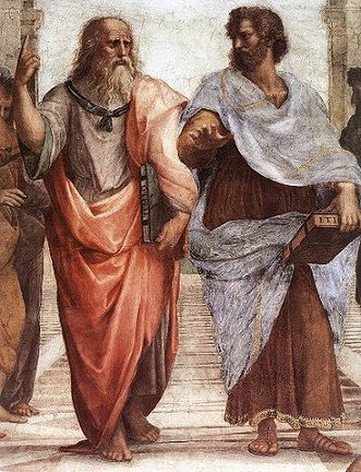 """Crooped of The """"School of Athens"""""""