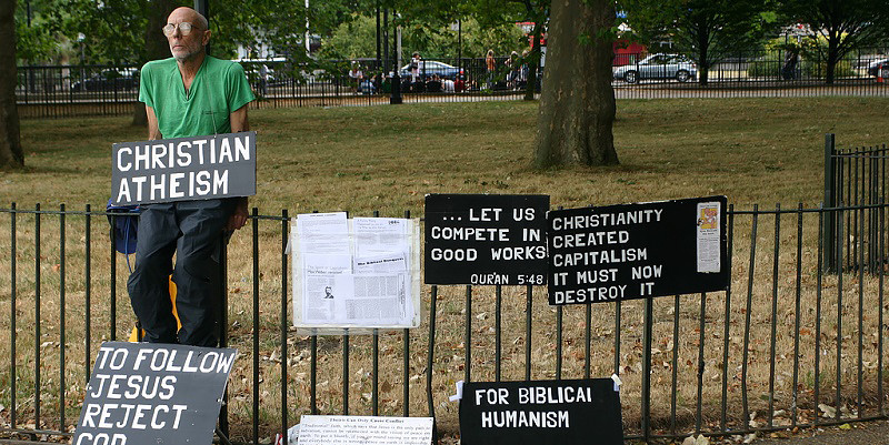 """Christian Atheism"" by redjar, July 23, 2006. Photo via Flickr."