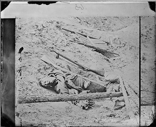 Dead Soldier in Trench, Petersburg