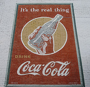 Coca Cola advertisement mural, 1943