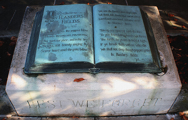 John McCrae Memorial / McCrae House / Guelph, Ontario by Flickr user Bill Barber CC BY-NC 2.0