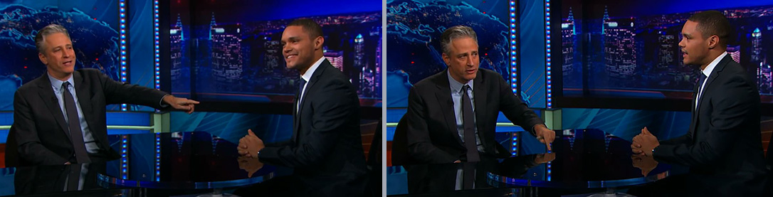 Daily Show; Stewart and Noah