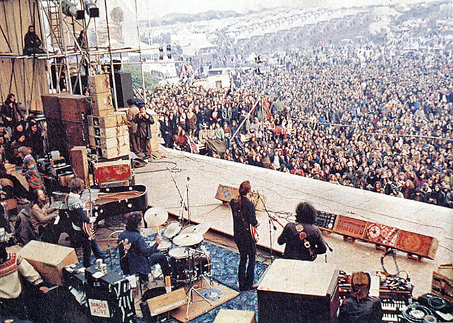 Grateful Dead at Bickershaw Festival, May 07, 1972. Image made available on Flickr by scarlatti2004.