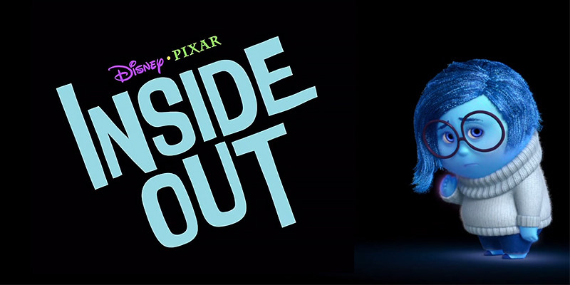 "Disney Pixar's ""Inside Out"" Logo and image of Sadness. An original and transformative work by the editor."