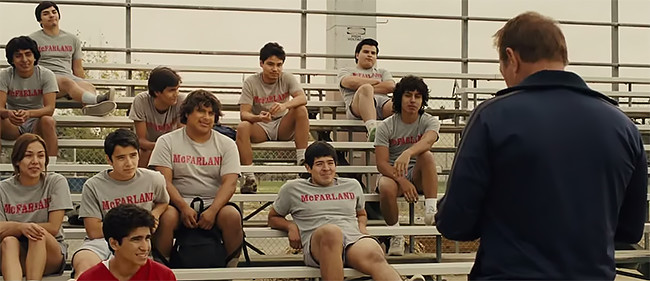 "This screen shot depicts the directorial choices around camera angles and demonstrations of community. Screenshot: ""McFarland, USA,"" © Disney, 2014."