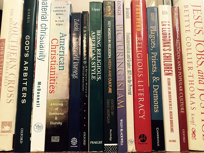 Religious studies texts. Photo by Editor, 2015.