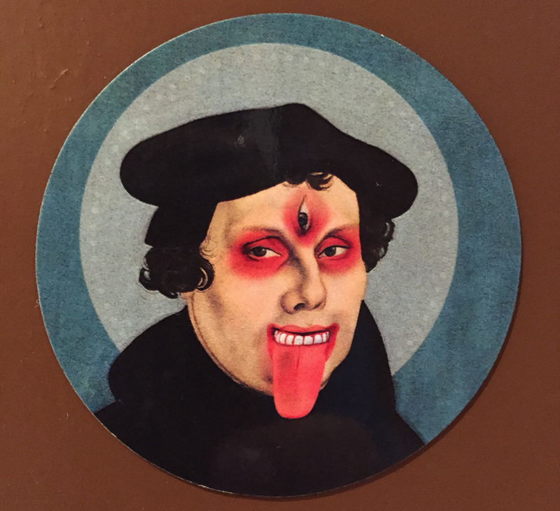 A Martin Luther magnet from the IAHR Conference