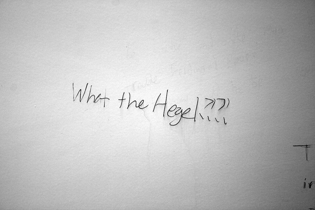 """What the Hegel?"" Quinn Dombrowski, December 23, 2015. Available via Flickr."