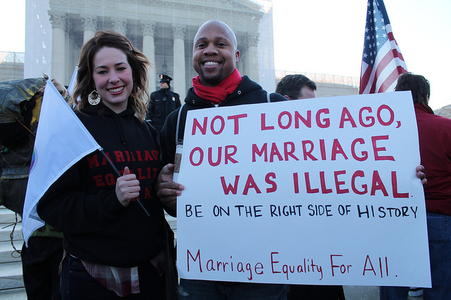 """MarriageEqualityRally1.SupremeCourt.WDC26March2013."" Photo by Elvert Barnes, December 23, 2015. Available via Flickr"