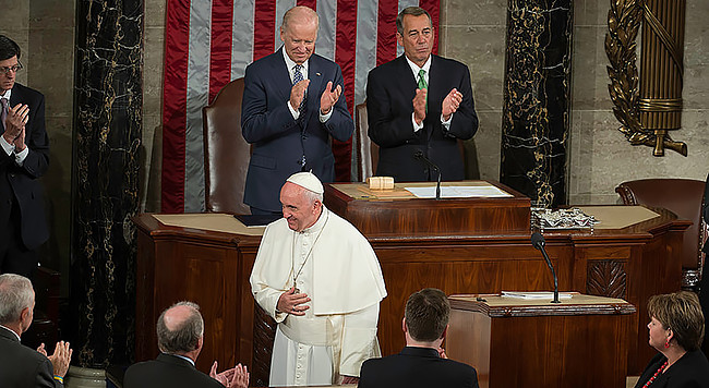 His Holiness Pope Francis visited the U.S. Capitol