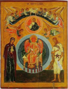 Icon of Sophia from warm St. George church in Vologda (late 16 century). Available via Wikimedia Commons