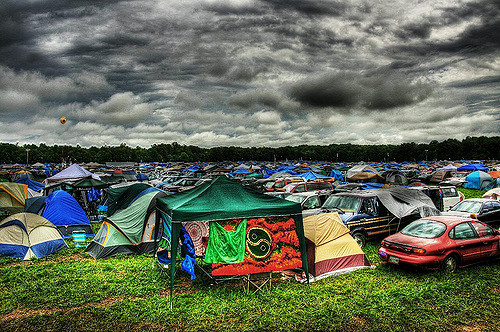 Camping at Bonnaroo. Available via Flickr user: Stefan Klopp, license by: CC BY-NC-ND 2.0