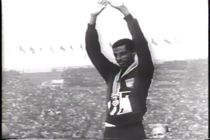 Abebe Bikila, 1964 Olympics. Image via wikimedia commons.