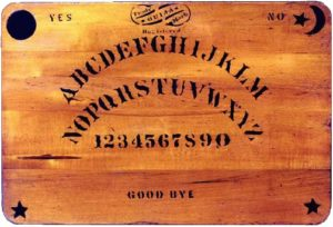 Original Ouija board created in 1894. Public Domain, https://commons.wikimedia.org/w/index.php?curid=1687537
