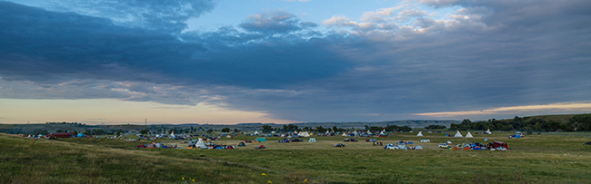 Dakota Access Pipeline protest at the Sacred Stone Camp near Cannon Ball, North Dakota. (Photo by Tony Webster Available Via Flickr (CC BY-SA 2.0)).